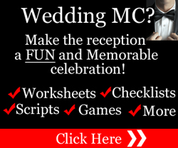 Click On Image Below For How To Be A FUN Wedding MC